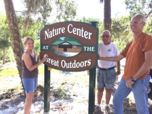 TGO Nature Center, Nature, The Great Outdoors, Titusville, Florida, TGO, New Sign, Sign, Volunteers