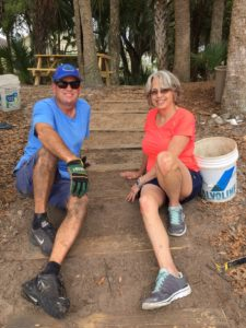 TGO Nature Center, Nature, The Great Outdoors, Titusville, Florida, TGO, Volunteers, Billy Killingsworth, Patsy Killingsworth, Berm, Steps,