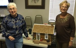 TGO Nature Center, Nature, Titusville, Florida, TGO, Volunteer, Sandy Juba, Darlene Durham, Presentation, Dollhouse, Cabin